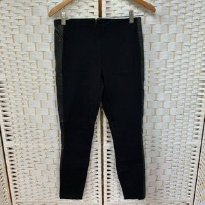J. Crew Ankle-Length Pants with Leather Stripe